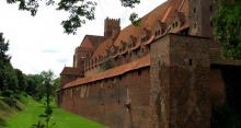 Zamek w Malborku - zbudowany z cegły