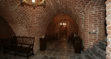 Zamek w Rynie - budowla z cegły